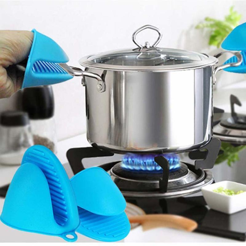 Silikon Kitchen Organizer Insulated Wärme Pot Clips Mikrowelle Handschuhe Hot Plate Clip 1 PC Verbrühungsschutz verdicken Startseite Handschuhe