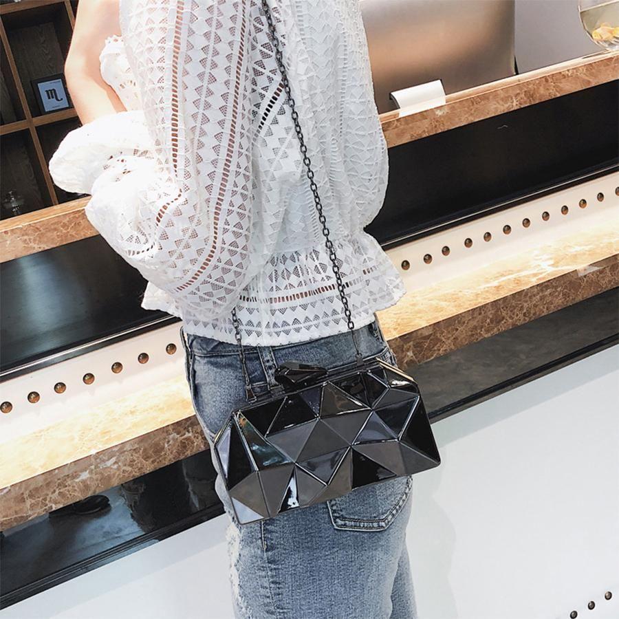Mini Metal Hexagon Women Box Party Quality Handbags Purse Clutches High Black Evening Designer-Fashion Silver Bags Gold Geometric Clutc Owca