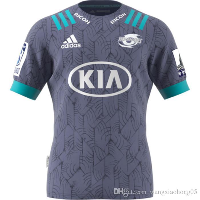 뉴저지 럭비 2020 뉴질랜드 슈퍼 럭비 유니폼 고지 홈 저지 리그 셔츠 허리케인 PRIMEBLUE SUPER 럭비 AWAY 저지