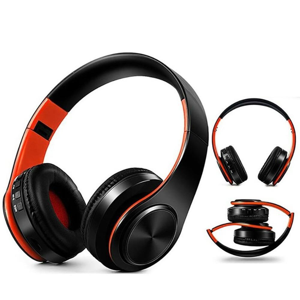 Nuovo portatile Cuffie stereo senza fili Bluetooth pieghevole cuffia audio MP3 auricolari regolabili con microfono per la musica
