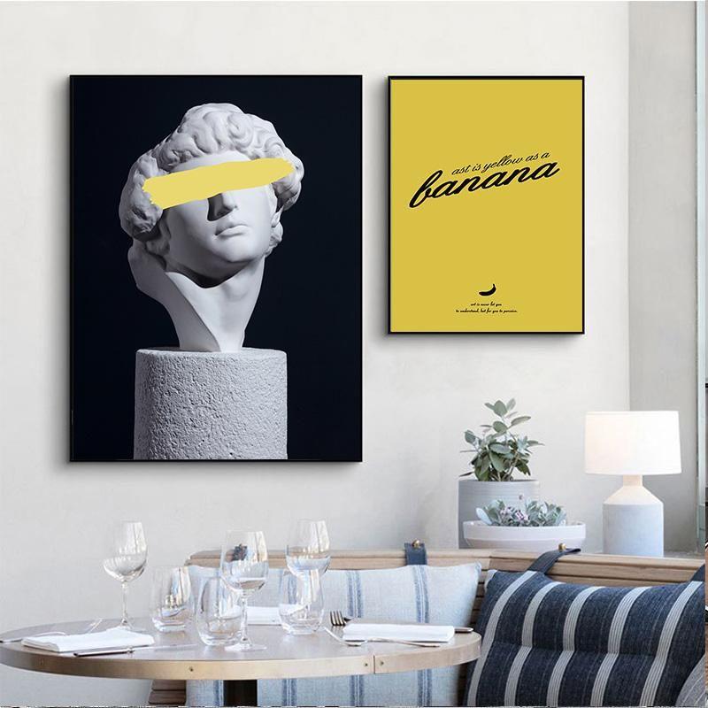 Retro Frau Skulptur Renaissance-Kunst-Plakat abstrakte Leinwand-Wand-Druck Malerei Modern Style Bild Modernen Raum-Dekors