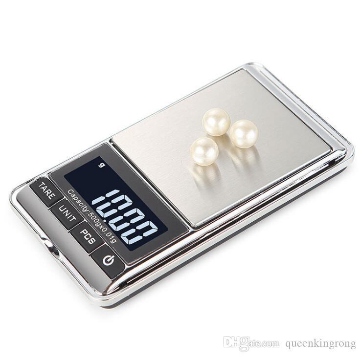 Più nuova Precisione Elettronica Digitale Bilance Display LCD 100 g / 200 g / 300 g / 500 g / 1000 g Per Oro Gioielli Con Diamanti Bilancia Da Cucina Bilancia Da Cucina Hot