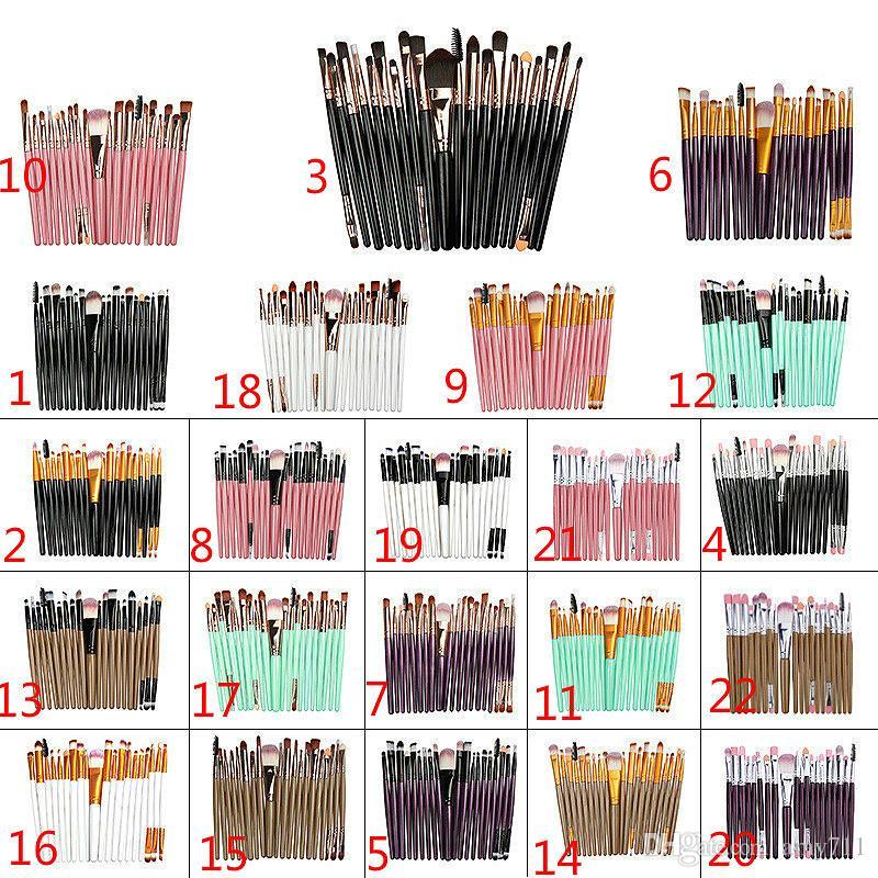 20 adet marka Makyaj Fırçalar Profesyonel Kozmetik Fırça doğa kontur Toz Kozmetik Fırça Ile set makyaj