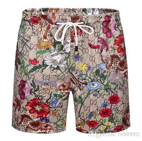 Pantalones de la playa impresas nueva manera de tablero de los hombres de la resaca Bañador de natación pantalones de los hombres de los cortocircuitos del tablero de los hombres de pantalón corto