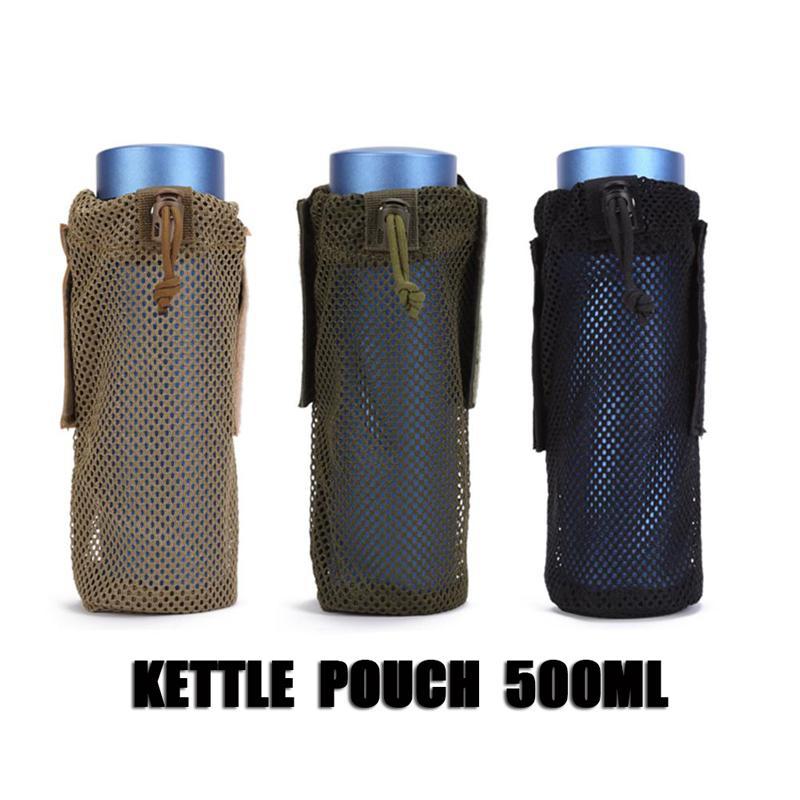 Pochette 500ML MOLLE Système Porte-Poche Porte-Poche En Microfibre Pliable Tactique Ceinture Titulaire Mounchain Camping