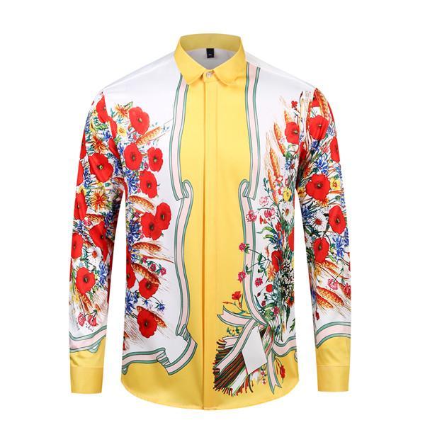 New Medusa Men Shirt 2020 robe à manches longues Slim Shirt Business Casual Shirt Marque Homme