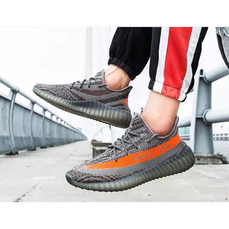 2020 Couples de coco Chaussures de basket Fly Tissé Cutout Respirant Chaussures Soft-Sole Boy Hommes Femmes Chaussures de course Casual 24 couleurs