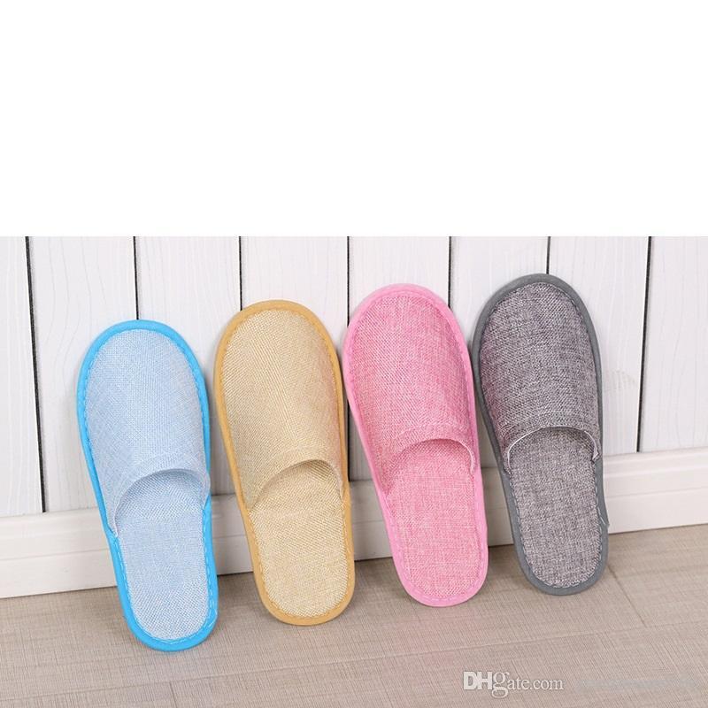 8styles Einweg-Hausschuhe Hotel Spa Home Guest Schuhe Anti-Rutsch-Baumwollleinen-Hausschuhe Komfortable Atmungsaktive Einmal-Slipper SZ616