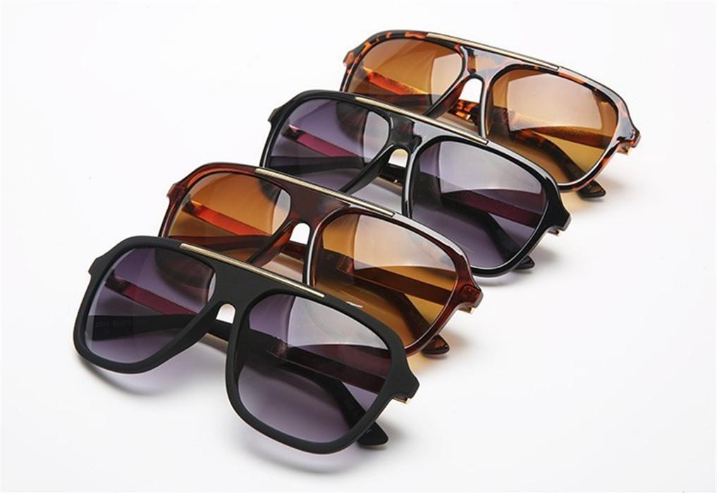 النساء والرجال 2501 الإطار مصمم النظارات الشمسية العلامة التجارية النظارات في الهواء الطلق ظلال PC أزياء السيدات الكلاسيكية الفاخرة مكبرة مرايا مع حالة مربع