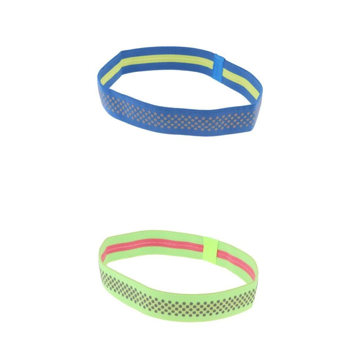 2 Stück Sport Schweißband Stirnband Yoga Gym Reflektierende