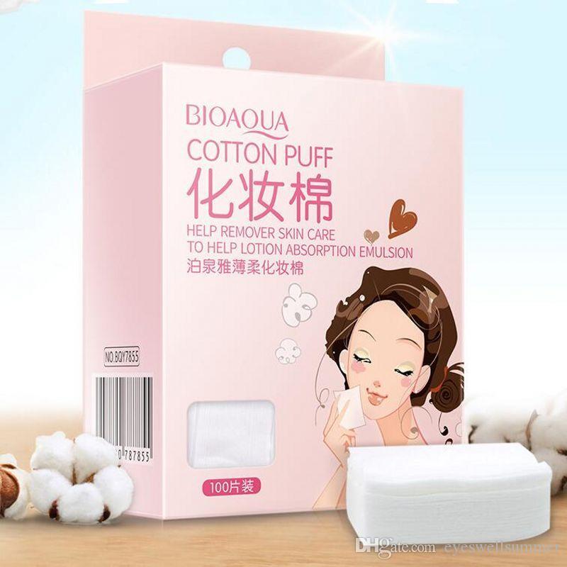 BIOAQUA 100 ADET Organik Pamuk Pedleri Yumuşak Yüksek Kaliteli Kaşmir Makyaj Pamuk Kadınlar Yüz Cilt Bakımı Makyaj Seti Kozmetik Aracı