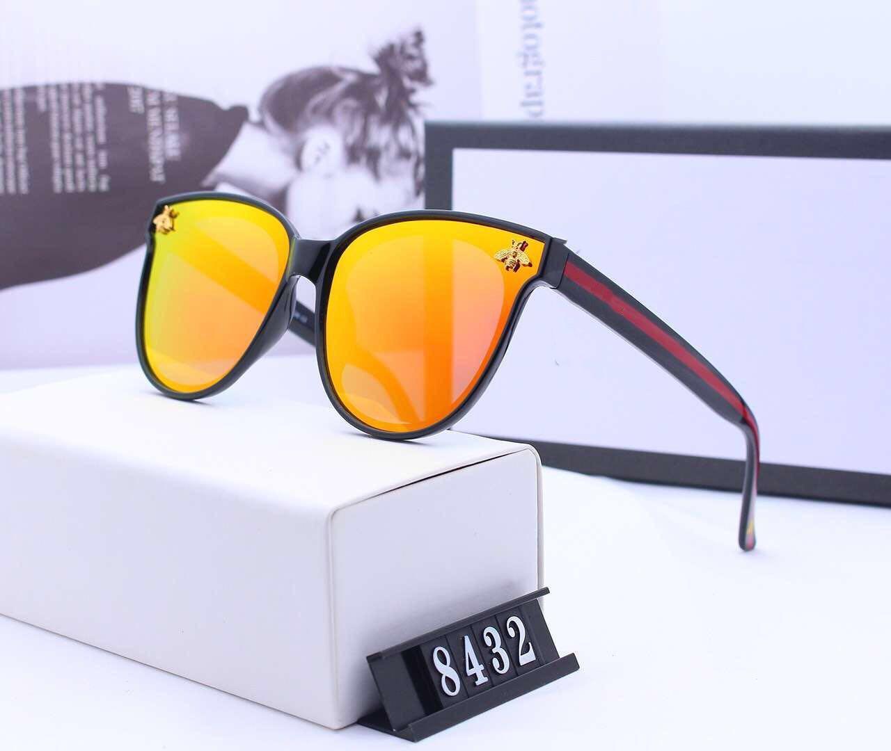 Occhiali da sole rotondi delle donne degli uomini di moda progettista di alta qualità Lenti in vetro scuro Occhiali da sole in metallo color oro nero Better