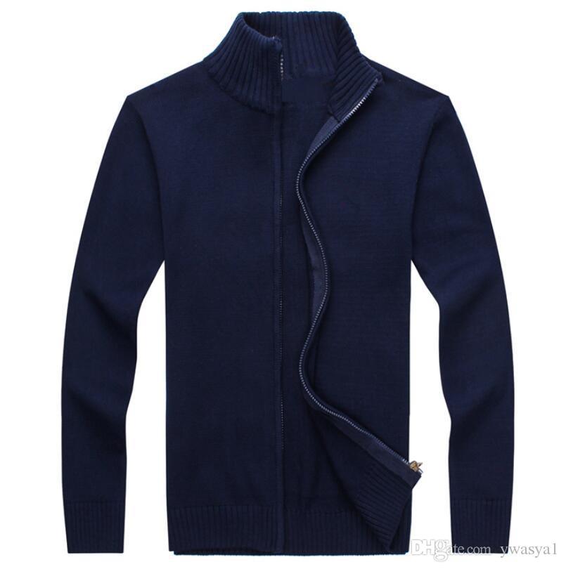 2019 새로운 PP63658 가을 브랜드 남성 니트 자켓 봄 카디건 코트 캐시미어 코튼 지퍼 풀오버 스웨터 남자 가디건 의류를 따뜻하게