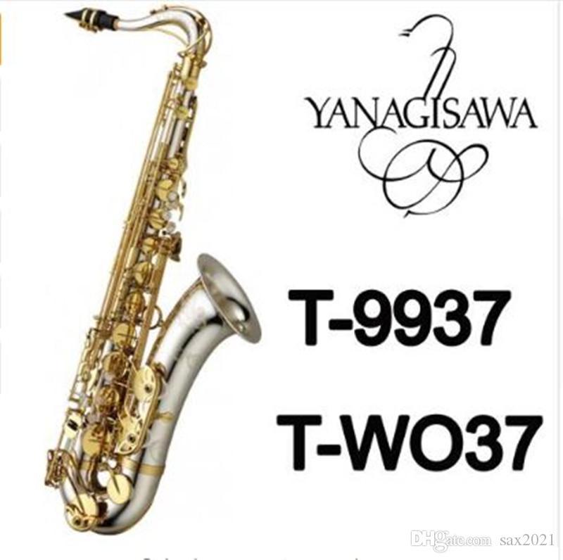 Strumenti musicali Tenor Sassofono Yanagisawa A-Wo37 T-Wo37 BB Tone Tone Nickel Placcato argento Tubo in oro Gold Key Sax con custodia Bocchino Guanti
