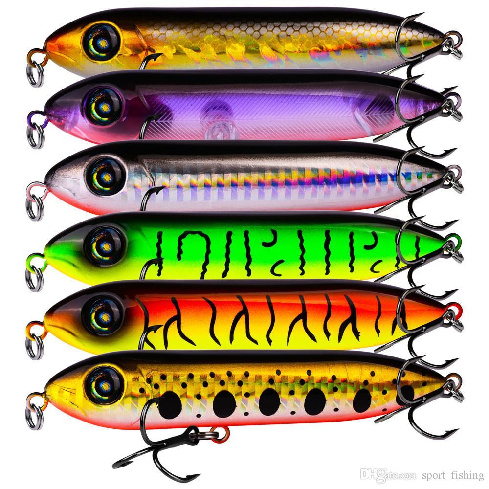 Karışık 6 Renk 10.2cm 11.5g Popper Sabit yemler Yemler 4 # Kanca Balıkçılık Kancalar Balık oltaları Yapay Bait Pesca Balıkçılık Aksesuarlar Mücadele