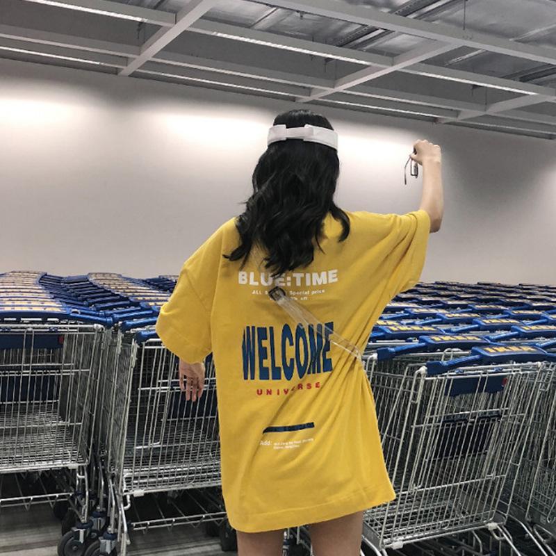 Une grande version de produits européens Hong Kong style T-shirt des femmes de manches courtes version coréenne 2020 nouveaux vêtements de style Hong Kong des femmes des fashi