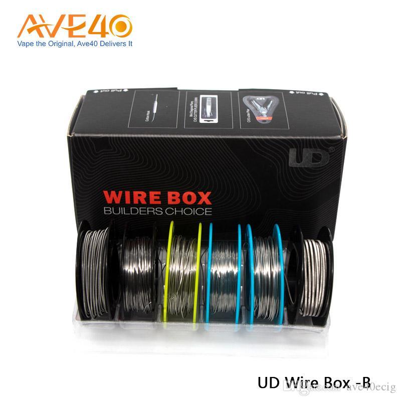 100% originale Youde UD Wire Box B con KA1 / SS316L / Ni200 / Nichrome DIY Wire per RDA
