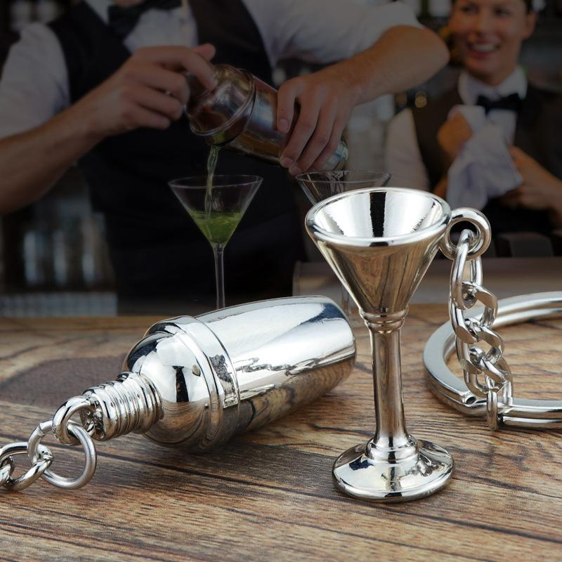 Новые рекламные подарки New Shaker Key Chain Personality Bar Wineware Бармен брелок партия подарков автомобилей Key Ring