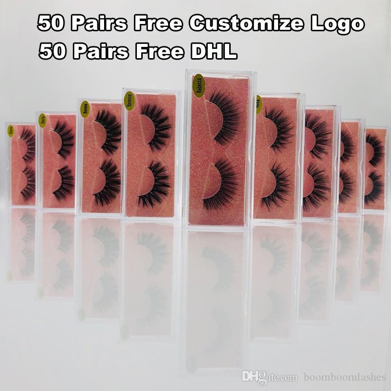 1Pair/lot Mink Eyelashes Clear Band Eye Lashes Crisscross Transparent Band False Eyelashes Handmade Dramatic Lashes Upper Lash