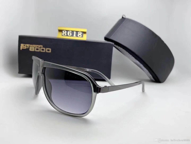 Occhiali da Sole Occhiali da sole di lusso di marca Uomo Donna adumbral Polorized Goggle Occhiali da Sole Modello 8618 UV400 di alta qualità con la scatola