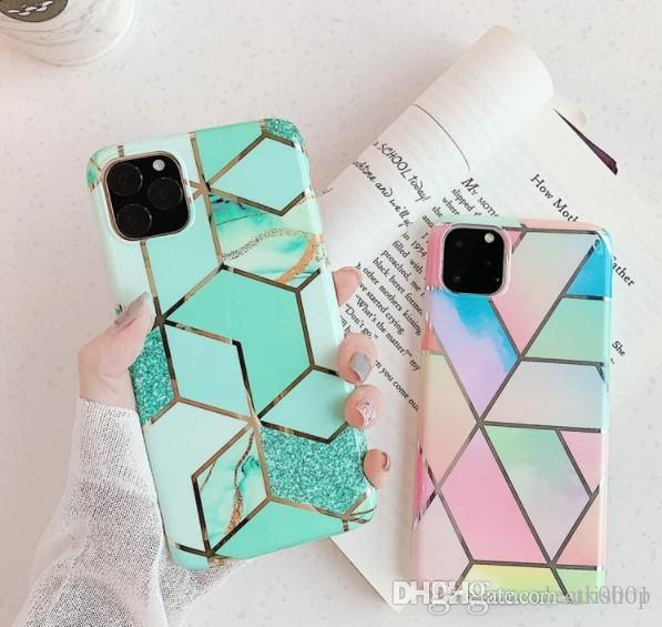Marble Grain cover For iPhone 12 11 Pro Max Anti-knock TPU Phone Case Protect FOR IPHONE 12MINI Cover Shockproof Soft Best Case