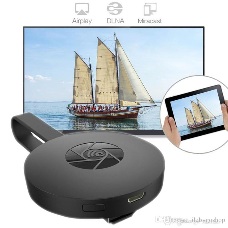 1080P HD MiraScreen G2 Wireless WiFi display Dongle Ricevitore TV Stick Airplay Miracast Media Streamer Media Adapter per Google Chromecast 2