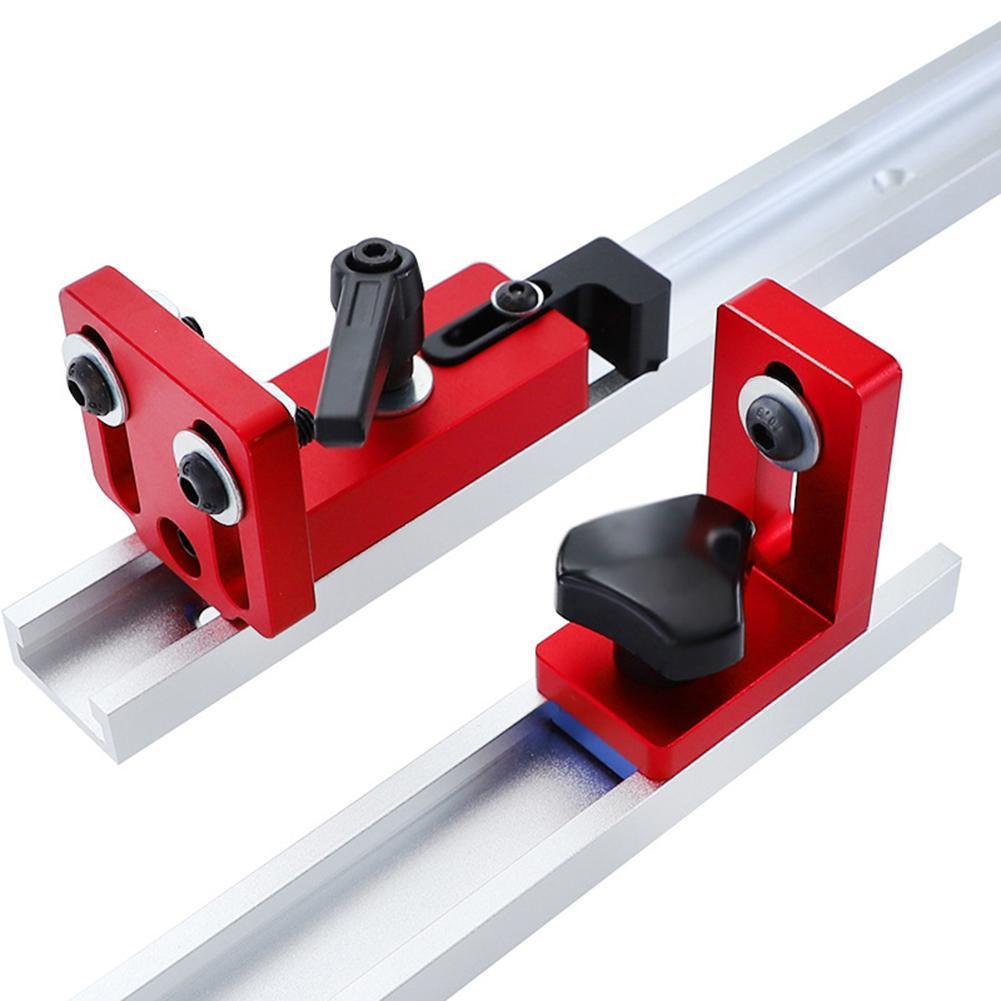 35/45 T-Slot Mitre butée de rail coulissant ONGLET clôture Connecteur rail Retenue Chute Locator pour les outils de fraisage Boiseries