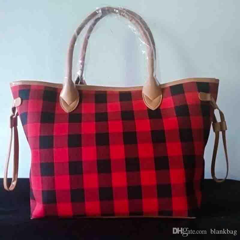 Mode hiver Buffalo femmes à carreaux sac fourre-tout imprimé léopard petit sac à main dame sac à bandoulière en toile poignée en cuir
