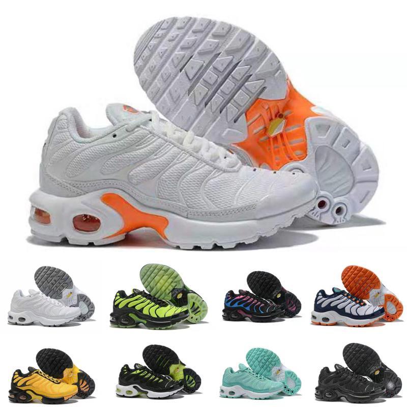 Nike Air TN Plus 2019 Crianças sapatos de skate do arco-íris Meninos e meninas calçados casuais TN 9 Cores Kids Shoes Kid Air Sneakers Eur 28-35