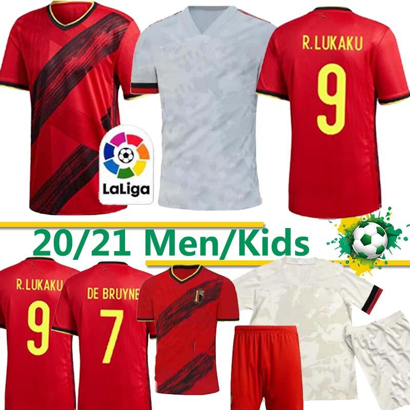 Thaïlande Belgique KOMPANY DE RISQUE Lukaku BRUYNE MERTENS Soccer Jersey 2019 Home away adulte, homme et enfants kit chemise de football de sport