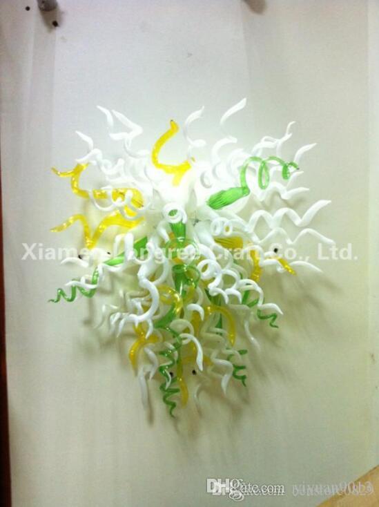 Art moderne Décor verre soufflé mur Lampes de fleurs en verre de Murano Applique murale décorative LED Wall Art
