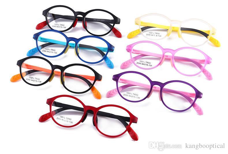 어린이 2,019 도매 브랜드 안경 레트로 패션 스타일의 타원형 금속 프레임 안경 어린이 안경 HOT 판매 광학 프레임