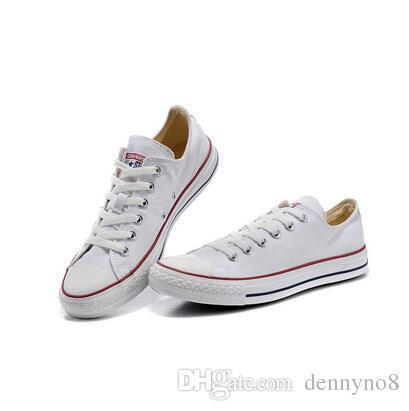 EN yeni kalite Fabrika fiyat promosyon fiyatı! Kanvas ayakkabılar kadınlar ve erkekler, yüksek / Düşük Stil Klasik Kanvas Ayakkabılar Sneakers Tuval Ayakkabı