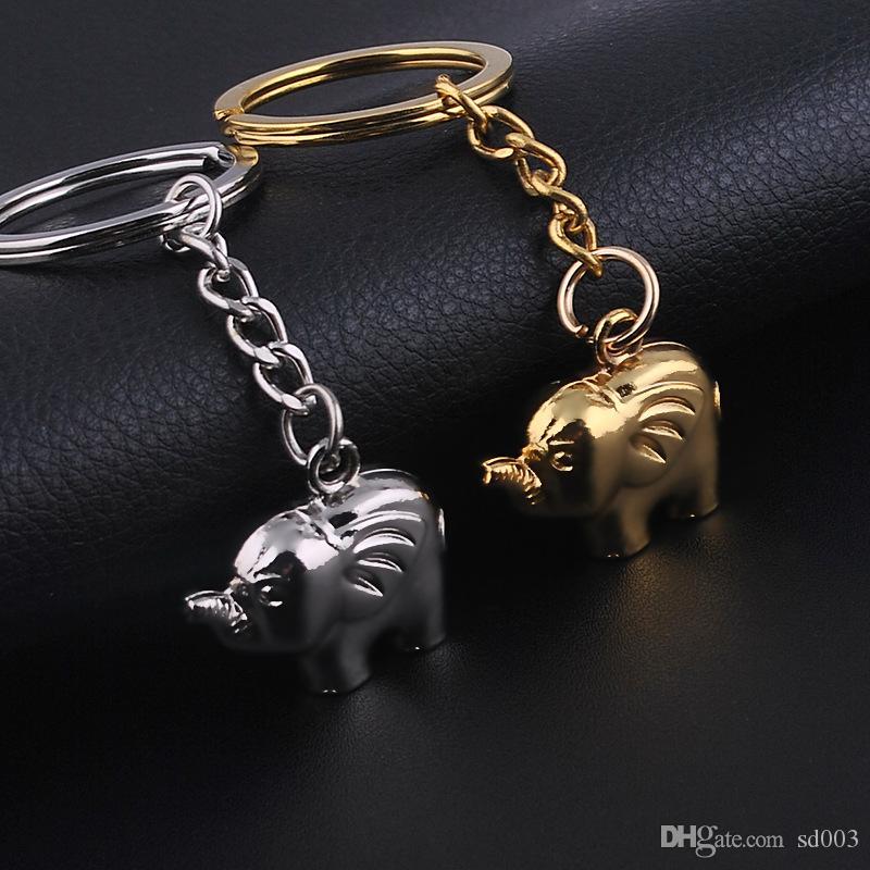 Chave de metal Fivela Automóvel Golden Sliver Cor Chaves Pingente Homem Mulher Pequena Caráter Elefante Cadeia Nova Chegada 1 3dx L1
