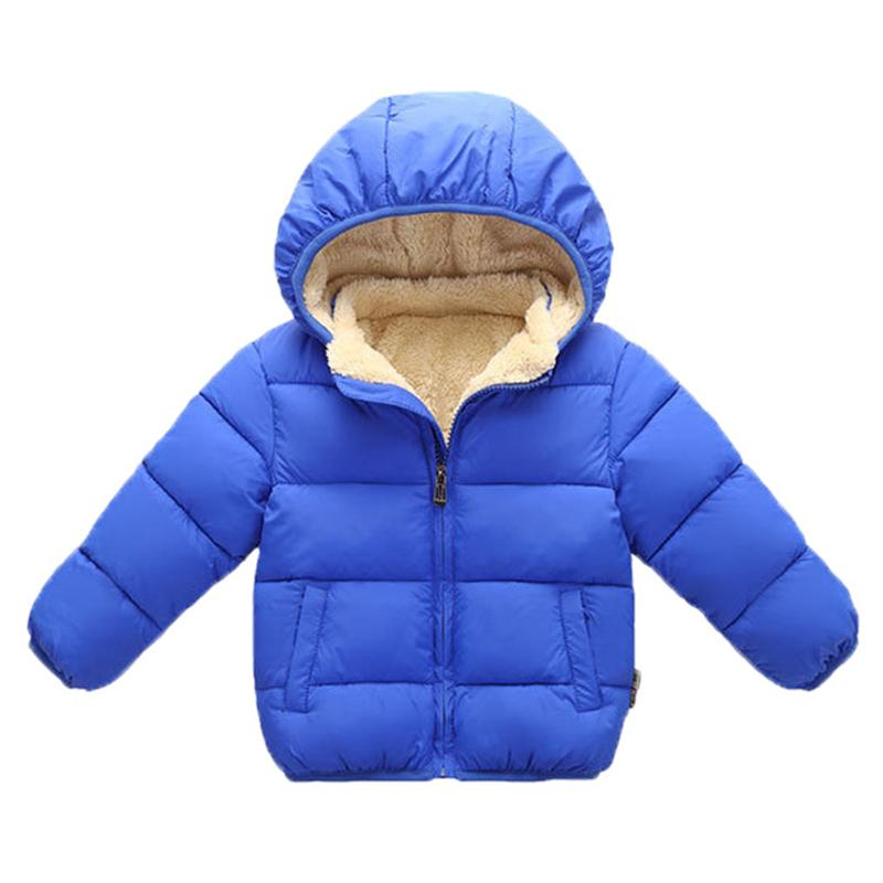 Baby Boys Jacket Winter Thick Coats For Kid Boys Warm Wool Outerwear For Girls Fur Hooded Jacket Children Clothes 12 3 4 Years