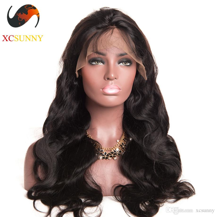 Предварительно сорванный парик шнурка 360, фронтальные бразильские парики из натуральных волос объемной волны для чернокожих женщин, 4-дюймовый швейцарский парик фронта шнурка оптом - [LFW002]