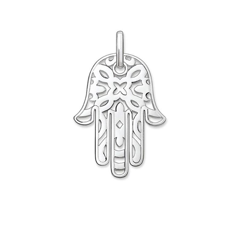 Hand of Fatima Pendants Religious Style Fatima's Hand Silver Fashion DIY Jewelry Making Necklace Women Men 2018 New Arrivals