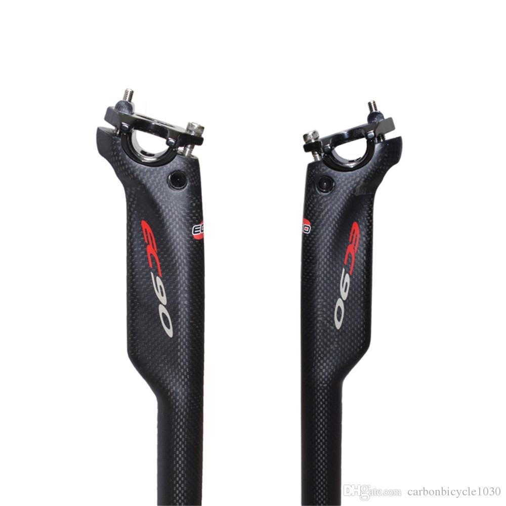 Completa de fibra De Carbono bicicleta Espigão de selim de Carbono MTB bicicleta espigão tubo de carbono MTB 27.2 / 30.8 / 31.6 * 350/400 m