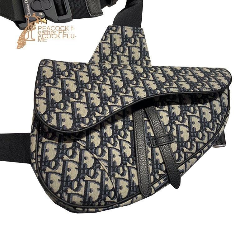 Buona sella Oblique uomo Tela Leatherwear Oblique Satchel