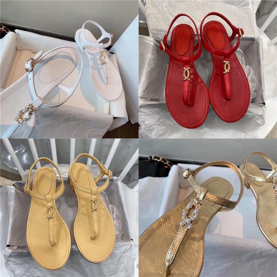 Sagace 2020 Donna Sandali donna Pantofole Thick-bottom Pearl solido impermeabili Sandali con zeppa scarpe casuali Donne Slipper Calzature # 423