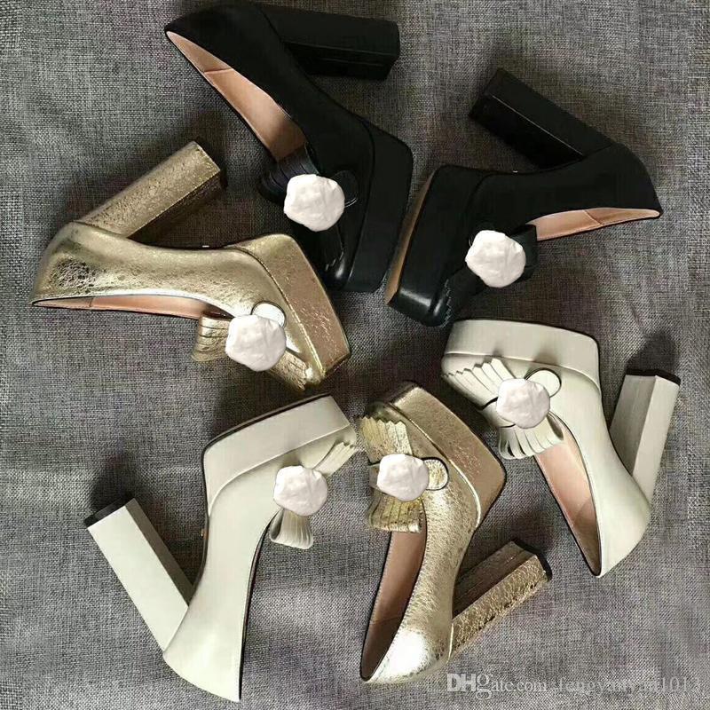 Los altos talones atractivos zapatos de la boda banquete barra de diseño clásico de cuero súper tacones altos zapatos de hebilla de metal de lujo las mujeres con la caja de zapatos US10 41EUR