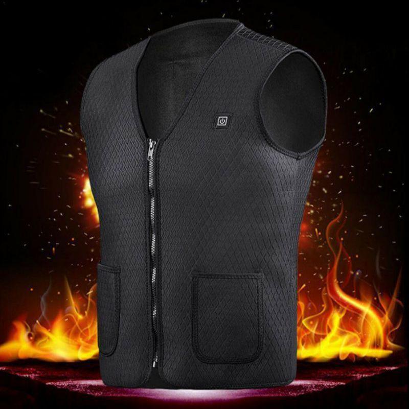 Зима Электрические USB Отопление Теплый жилет унисекс мужчины и женщины Отопление Свет Открытый Туризм Jacket Одежда 1