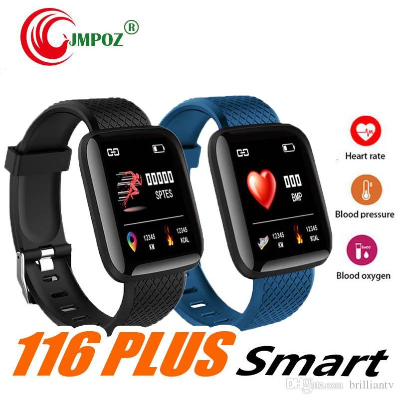 116 Plus Smart Watch Bracelets 1.3 inch Fitness Tracker Heart Rate Step Counter Activity Monitor Band Wristband 115 for iphone Android DHL