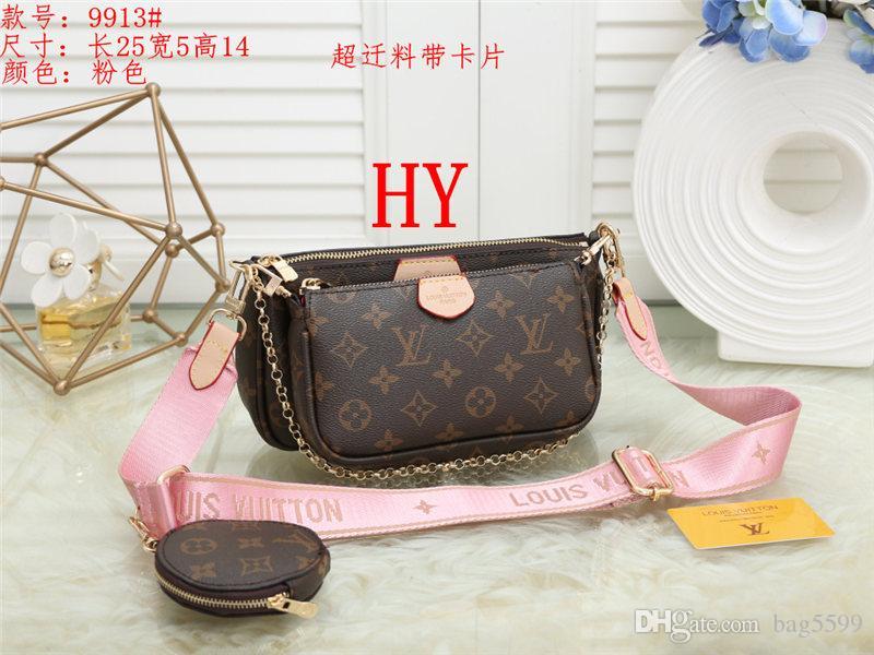 Women handbag messenger shoulder bags chain bag good quality leather purses ladies bag 3 unids/set