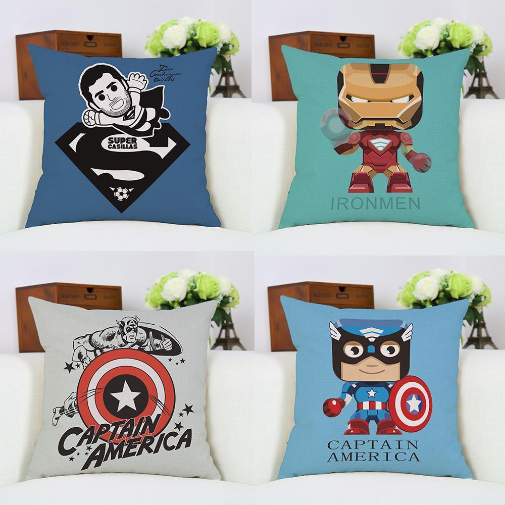 Iron Man Superheros Pillowcase Home Decor Cushion Cover Linen Pillow Case 18 X 18 Inch New
