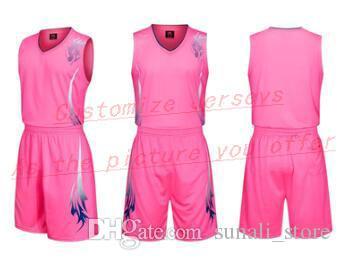 Tout nom personnalisé Tout numéro Hommes Femmes Lady jeunes enfants garçons Basket-ball Maillots Sport Chemises Comme les photos que vous Offre B154