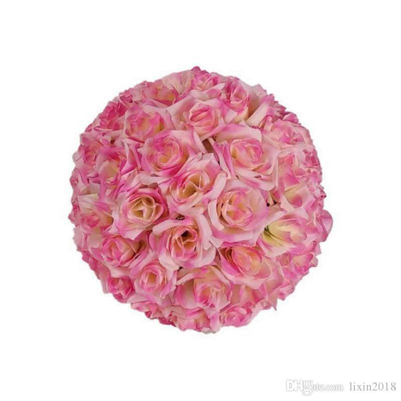New 15-30cm Simulation of high-quality encryption rose flowers kissingb ball for the New Year festive wedding decorations bouquet