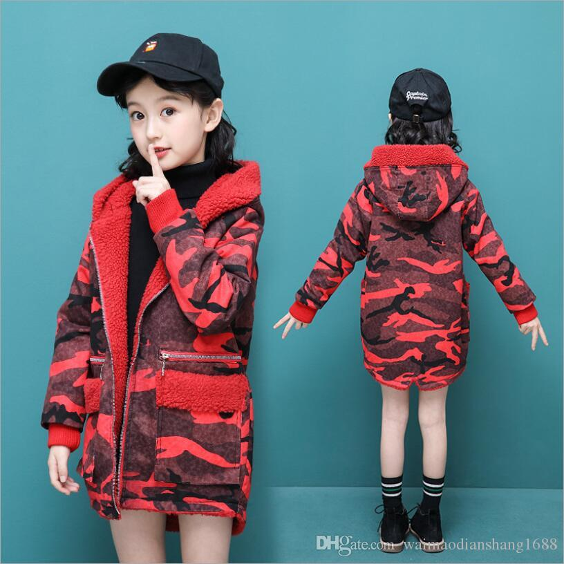Toddler Girls Autumn Winter Denim Coat Zipper Jacket Hooded Casual Overcoat