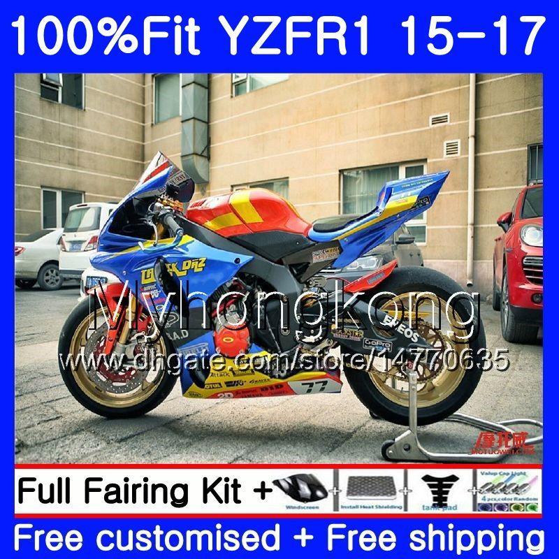 사출 새로운 광택 블루 바디 YAMAHA YZF-1000 YZFR1 2015 2016 2017 243HM.28 YZF R 1 1000 YZF-R1 YZF1000 YZF R1 15 16 17 페어링 키트