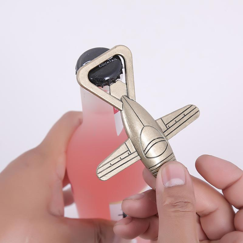 Mini Aircraft Shape Retro Bottle Opener Portable Bar Kitchen Accessories Beer Opener Keychain